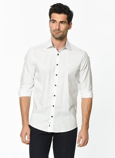Beymen Business Puantiyeli Gömlek Beyaz